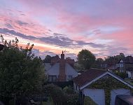 Sunrise on 3rd May 2020. A view from Richard's garden near York.