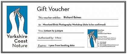 Moorland Birds Photography Gift Voucher