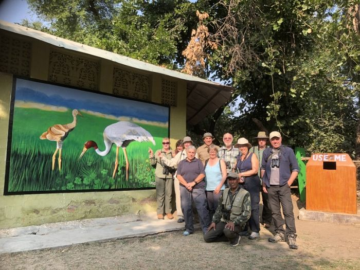 Our wonderful group of clients at Keoladeo NP © Steve Race