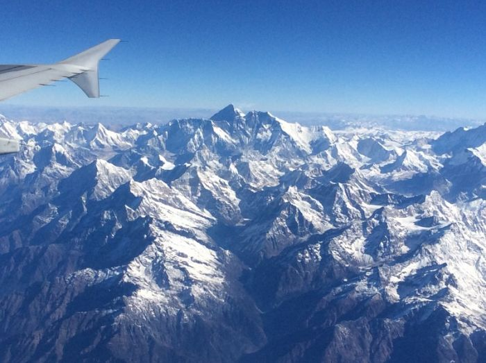 Everest from the Paro to Kathmandu flight © Richard Baines