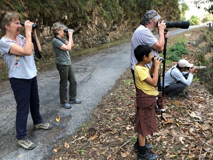 Jungle birding with our YCN & Red Panda team© Richard Baines