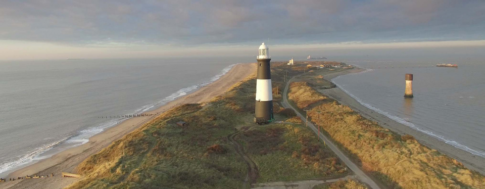 Spurn Lighthouse and 'Point' © George Stoyle