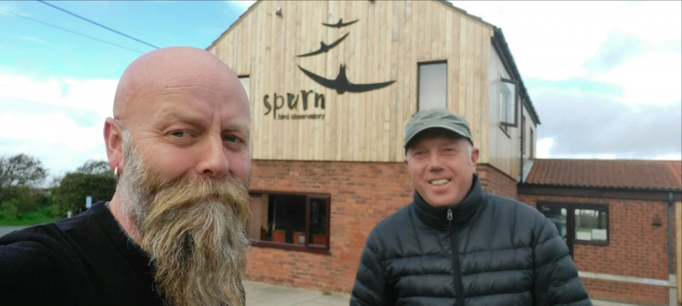 Mark Pearson and Richard Baines guiding and staying at Spurn Bird Obs in 2020. A great place for birders to stay